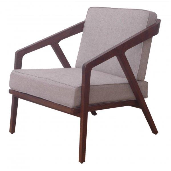 Buy Dark Wood Retro Low Slung Armchair Libra Wooden Retro Armchair