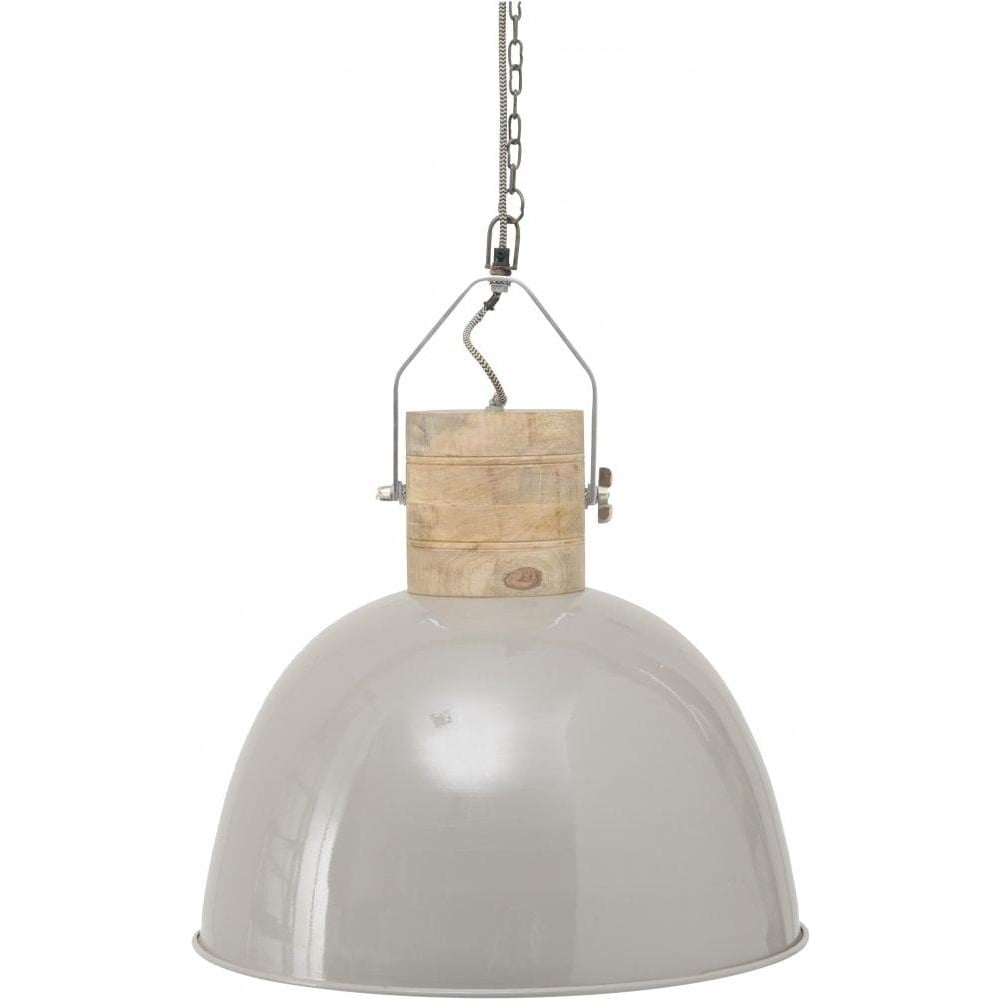 Buy Large Grey Metal Ceiling Pendant Light From Fusion Living