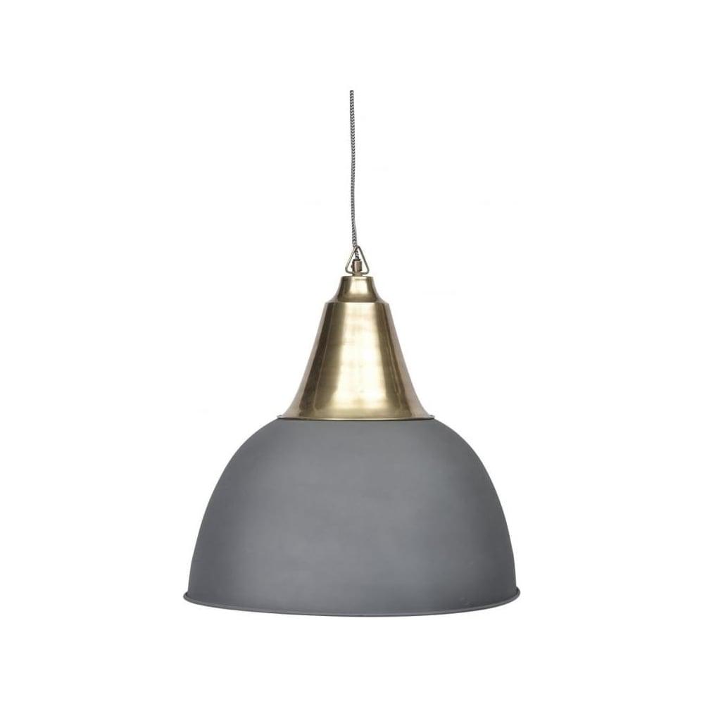 Buy large slate grey and brass ceiling pendant from fusion living large slate grey and brass ceiling pendant aloadofball Images