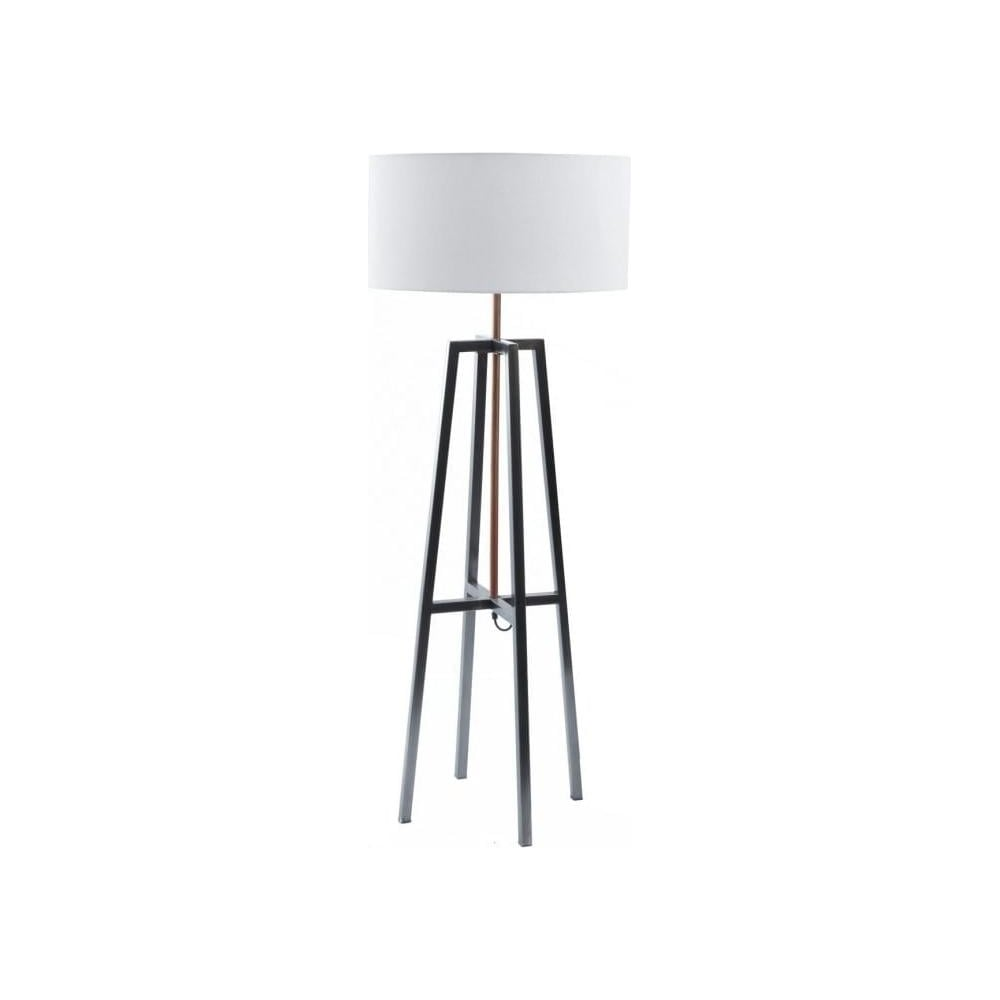 Buy grey copper four leg floor lamp and white shade at fusion living satin grey and copper four leg floor lamp with white shade aloadofball Choice Image