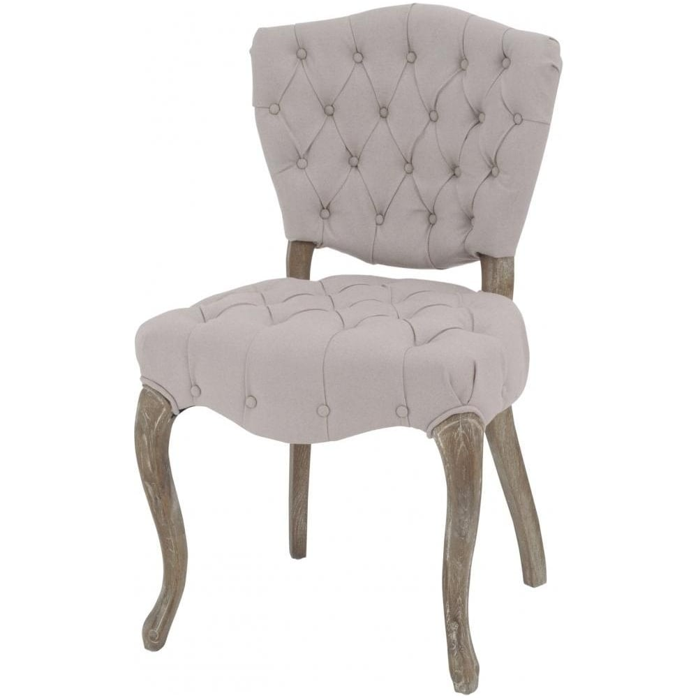 Buy Cream Button Back Vintage Style Dining Chair From