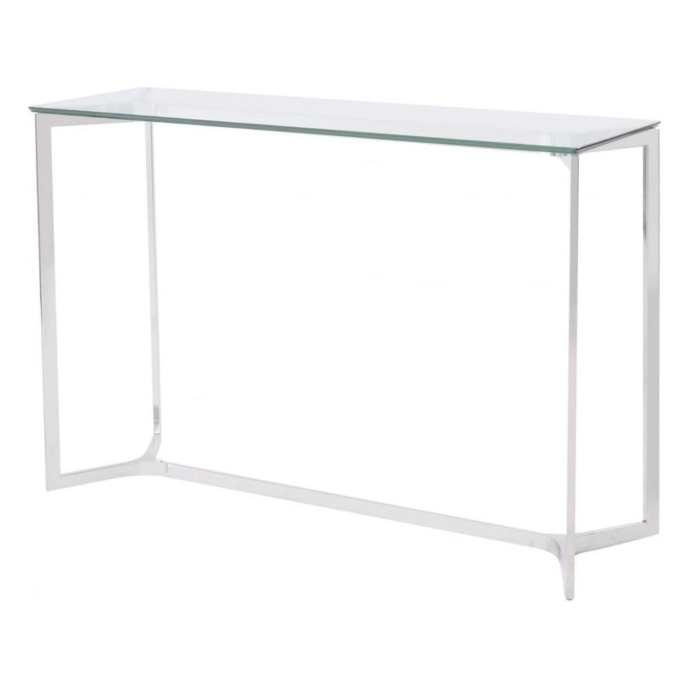 Buy Stainless Steel And Glass Console Table At Fusion Living