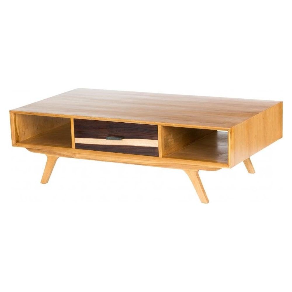 retro coffee table. Two-Tone Retro Coffee Table