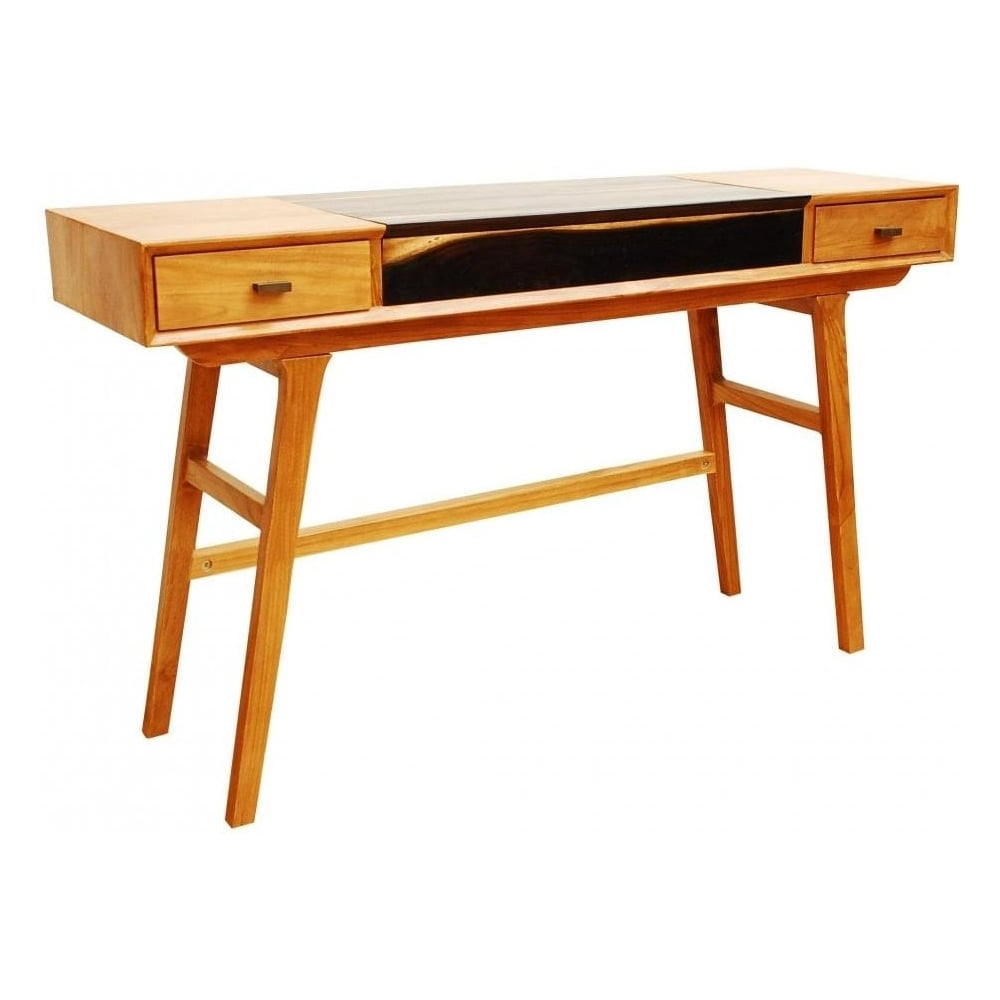 Genial Two Tone Slim Line Retro Console Table