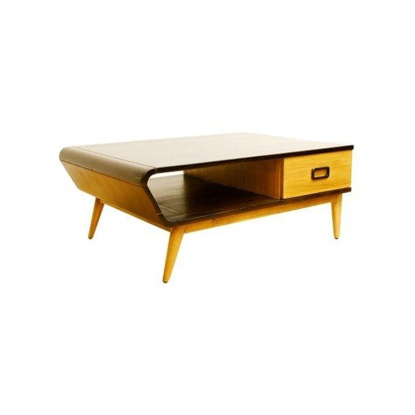 libra furniture two tone angular retro coffee table tables from