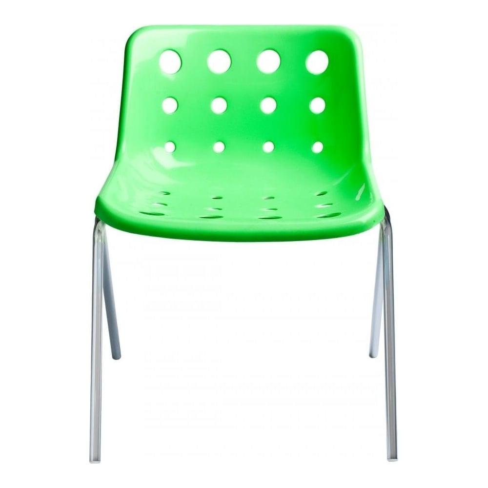 buy bright green robin day polo chair green chrome 4 leg polo