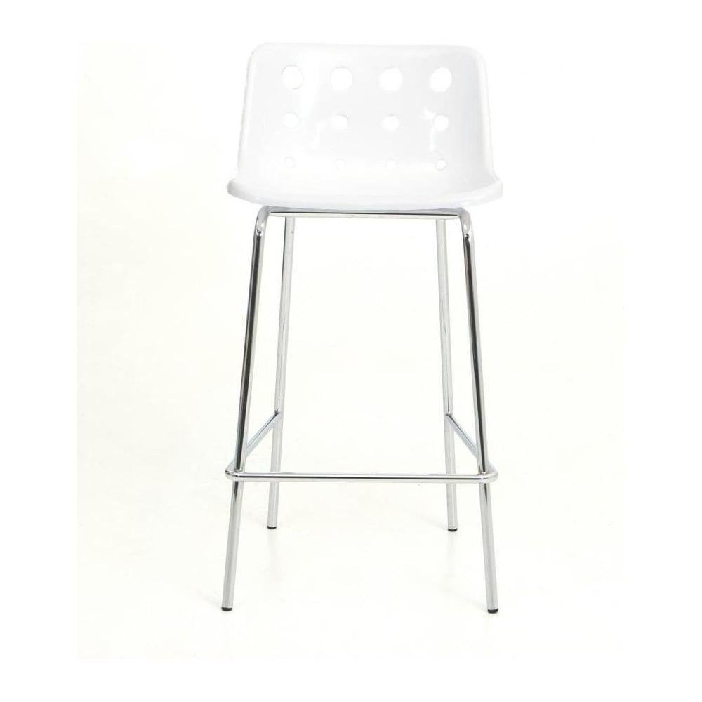 4 leg white plastic polo bar stool