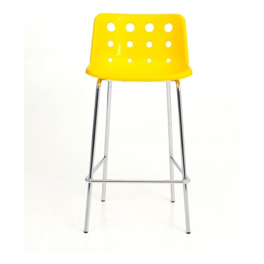 4 leg yellow plastic polo bar stool