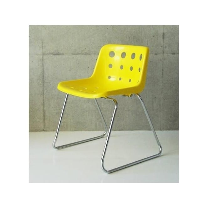 bright yellow loft robin day polo chair by fusion living sled style