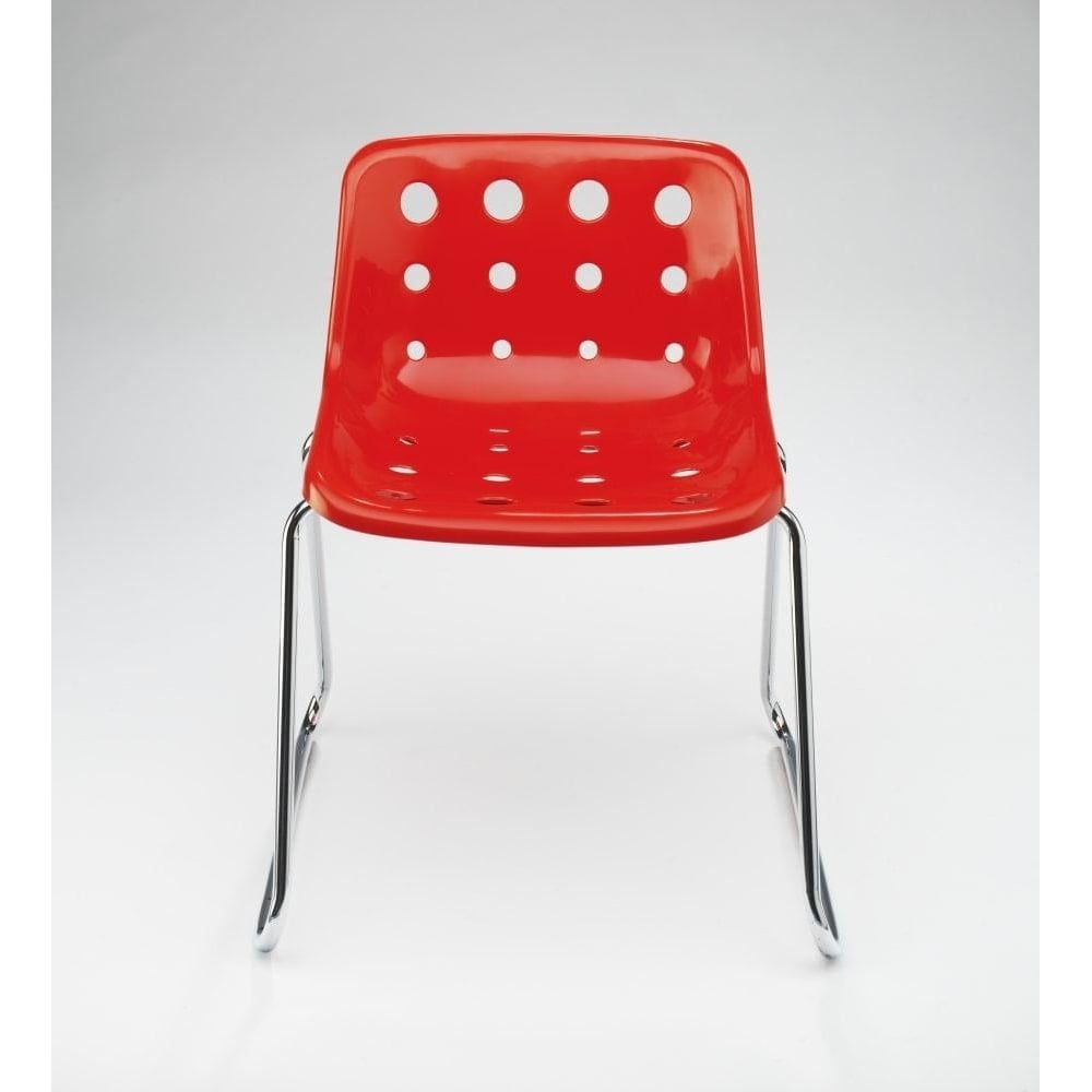 buy red robin day polo chair red chrome legged sled chair online