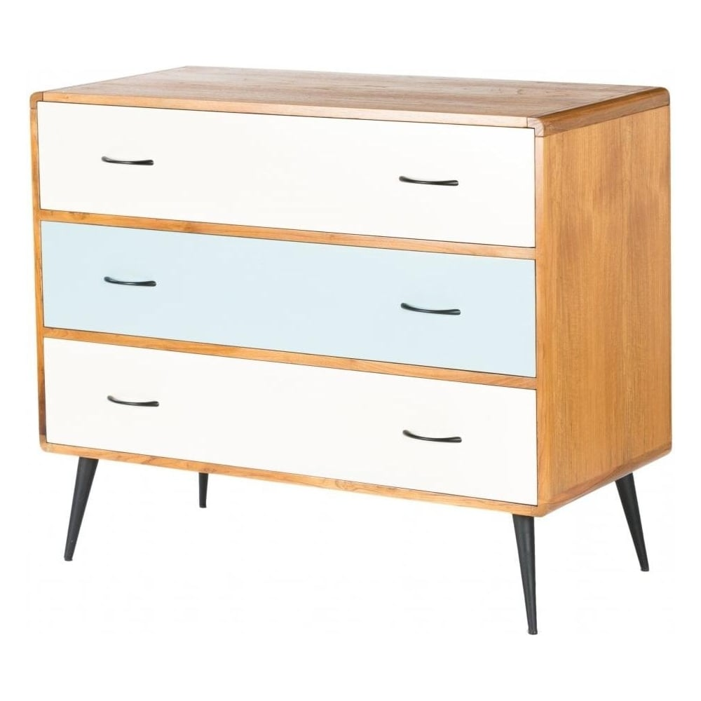 Libra Retro Chest Of Drawers From Fusion Living White