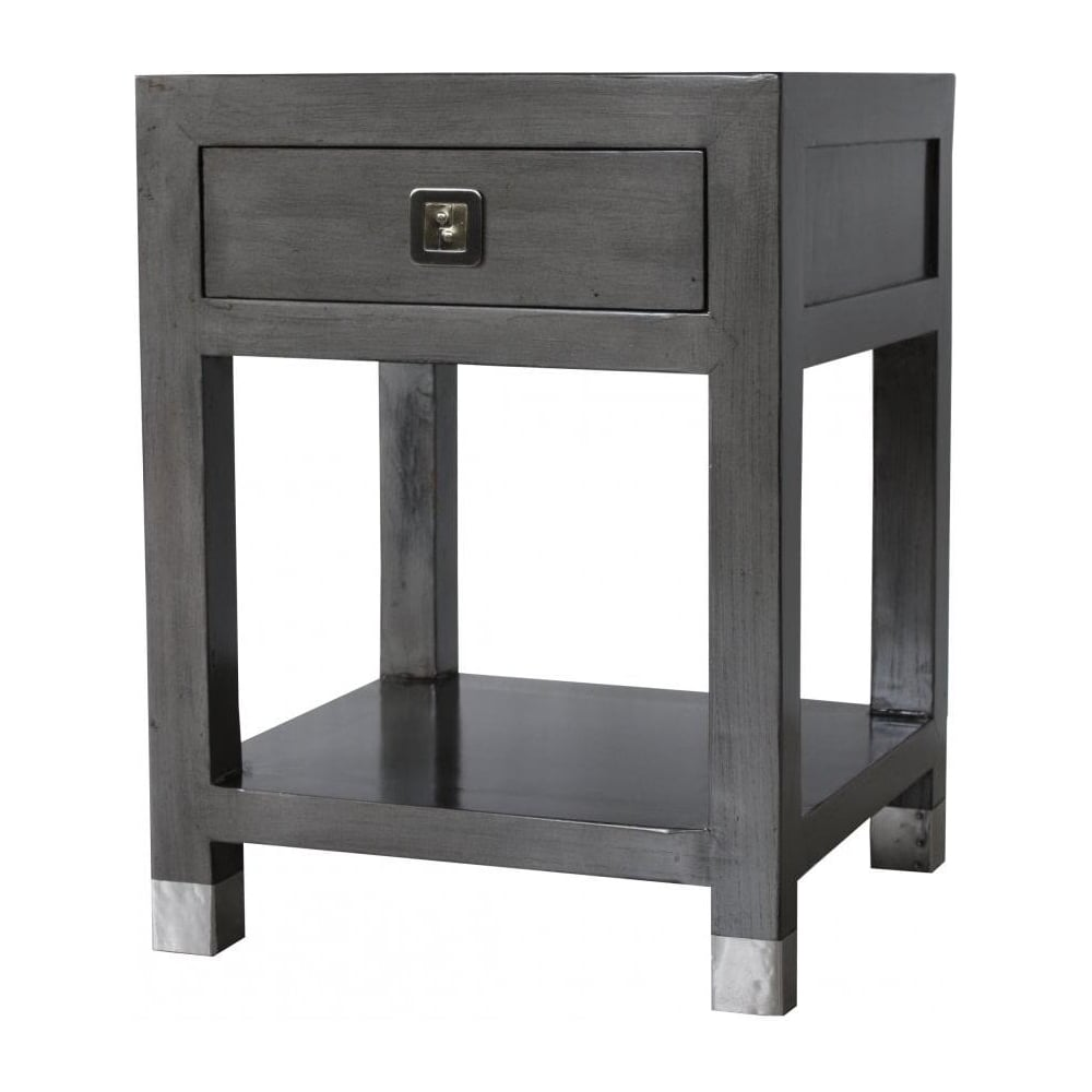 Wonderful Graphite Grey Contemporary Side Table