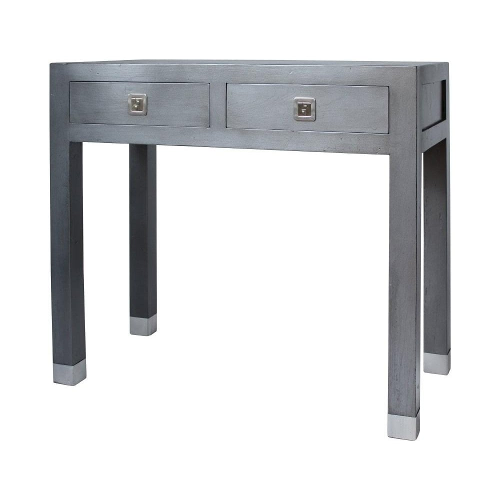 Buy qing dao graphite grey small console table grey for Sofa table grey