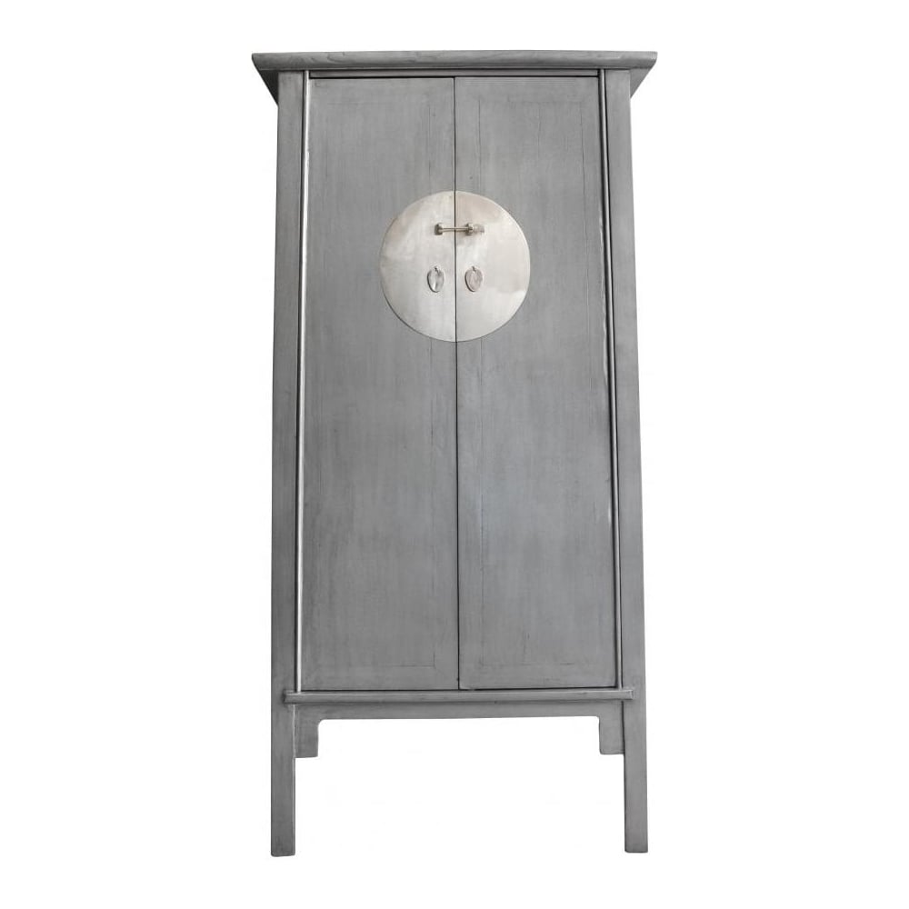 Buy Qing Dao Silver Tall Cabinet Qing Dao Oriental