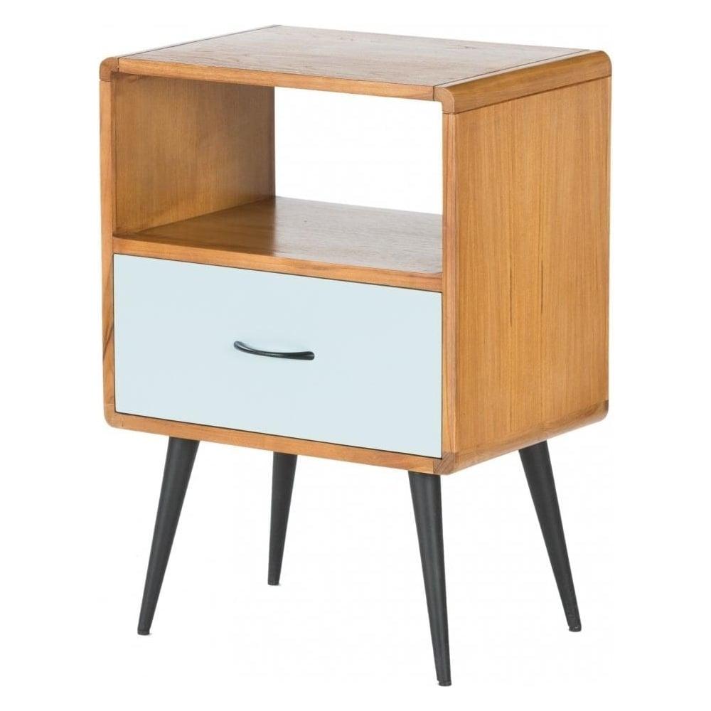 Libra retro bedside unit from fusion living wooden retro for Retro end tables