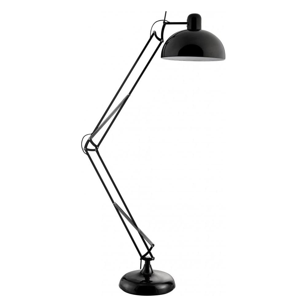 Libra tall black floor standing task lamp from fusion living online tall black floor standing task lamp mozeypictures Image collections